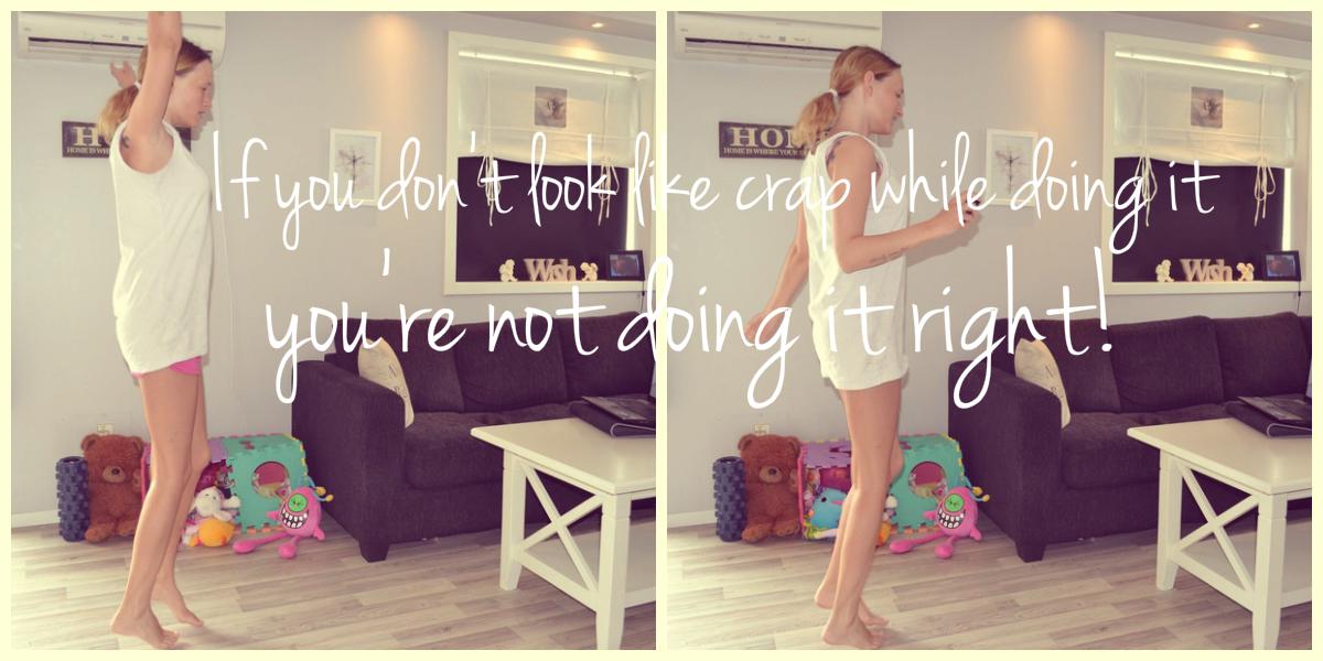 trene hjemme i egen stue